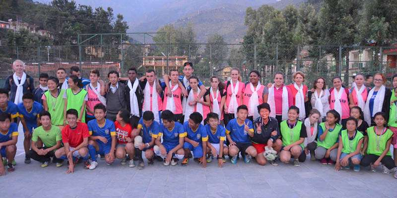 Basketball match between Students from France and Lower TCV